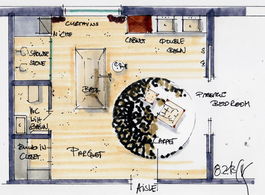 05_GROHE Grandera bathroom planning classical sketch_English