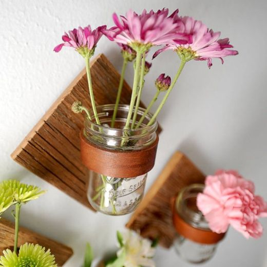 Square Sconces Mason Jar DIY Project With Vases